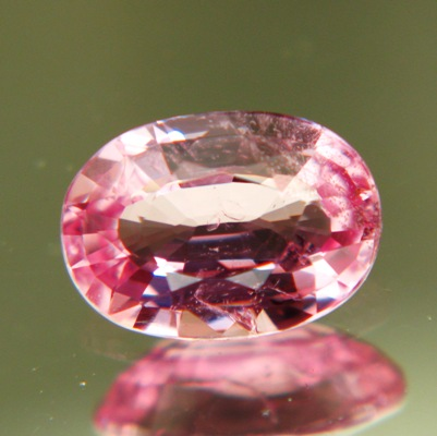 oval one carat untreated padparadscha