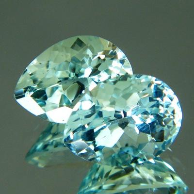 precision cut untreated aquamarine