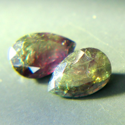 matching pair of certified alexandrites with fine color change