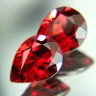 Rich red orange Ceylon garnet