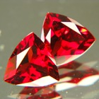 red garnet pair for studs