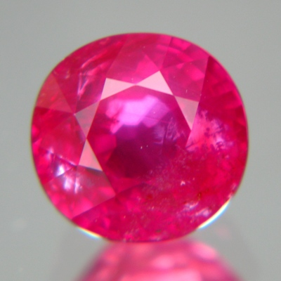 round unheated ruby over 3 carat