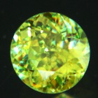 Rainbow in green and yellow Ceylon sphene