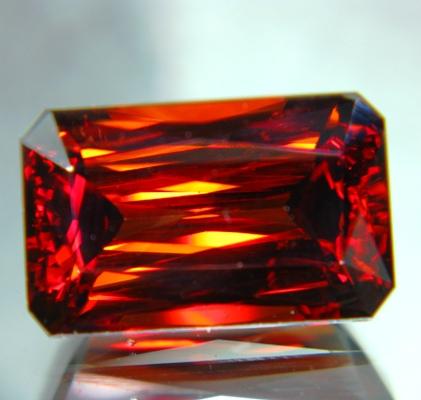 Earth golden orange Vietnamese zircon