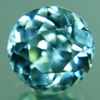 blue zircon gemstone no heat untreated