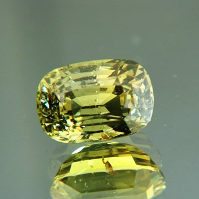 unheated Golden yellow green Madagascar sapphire 5 carat