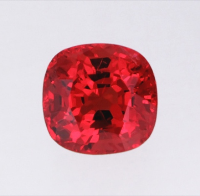 Orange red Burma spinel