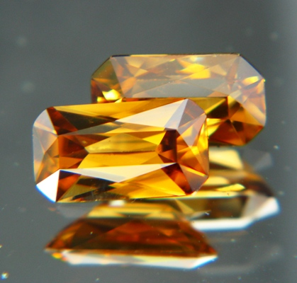 Golden yellow Australian Zircon