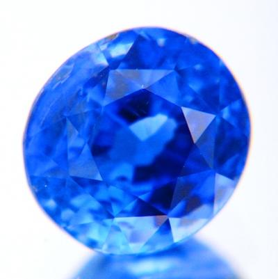 Rich cornflower blue Ceylon sapphire