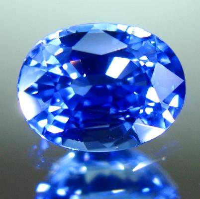 Deepest sky blue Ceylon sapphire