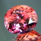 Oval deep sunset pink Mozambique tourmaline