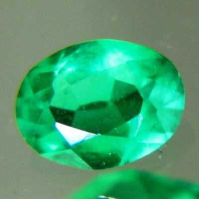 Sandawana oil-only emerald in pear cut deep vivid green