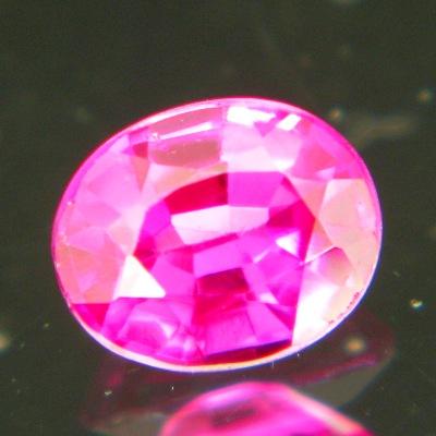 Deep neon pink Burmese sapphire