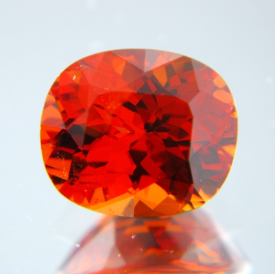 Pure orange African spessartite