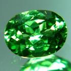 Neon green oval Tsavorite