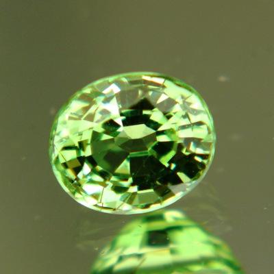 near round green tsavorite