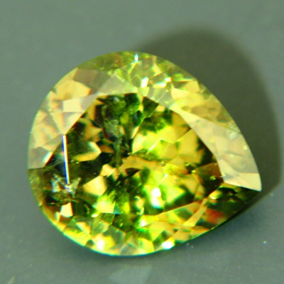 pear shaped demantoid from namibia over 4 carats
