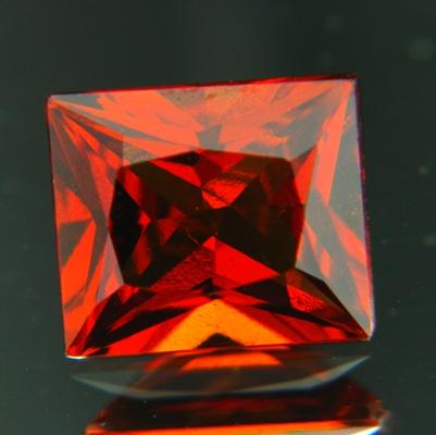 3 carat precision cut hessonite pricess rectangular