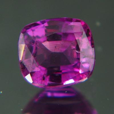 Rich reddish purple Kashmir sapphire