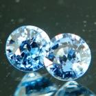 Cobalt blue pair of Ceylon spinels