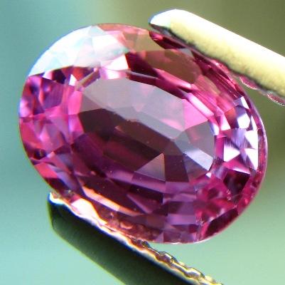 Rich purplish pink Ceylon sapphire