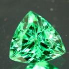 extra neon green tsavorite grossularite garnet over one carat