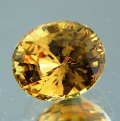 Orange yellow Madagascar sapphire
