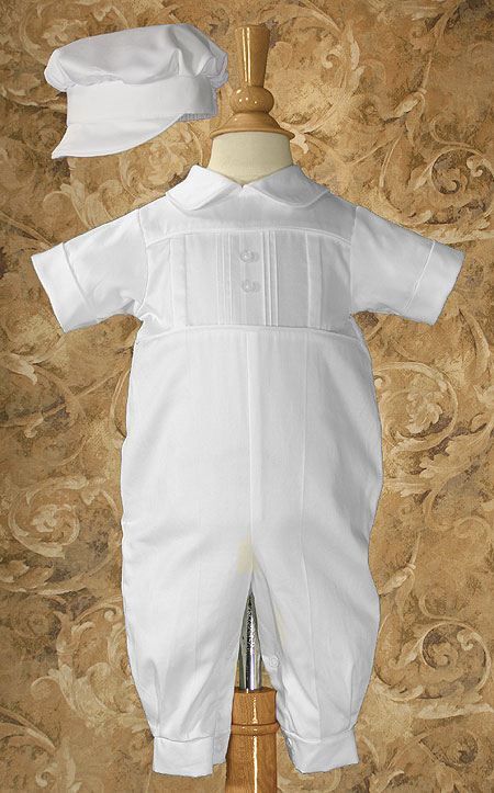 Short Sleeve Christening Coverall