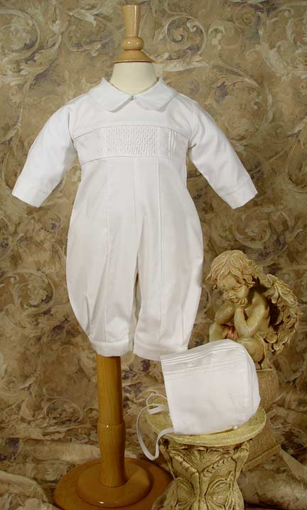 Long Sleeve, Long Pant Christening Coveral