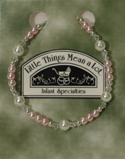 Pearl and Pink Sterling Silver Bracelet