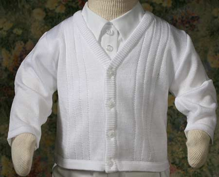 Boys Christening Sweater 3-9 month