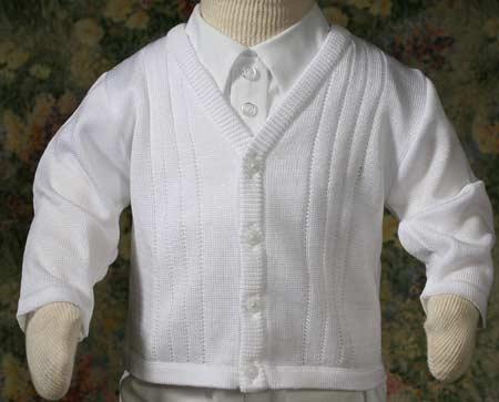 Boys Christening Sweater 3-9 month