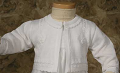 Girls Christening Sweater 12-24 month
