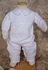 Cotton Knit One-Piece Boys Christening Outfit
