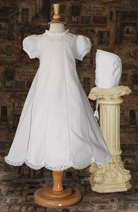 Cotton And Lace Christening Gown