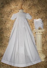 Pleated Heirloom Christening Gown