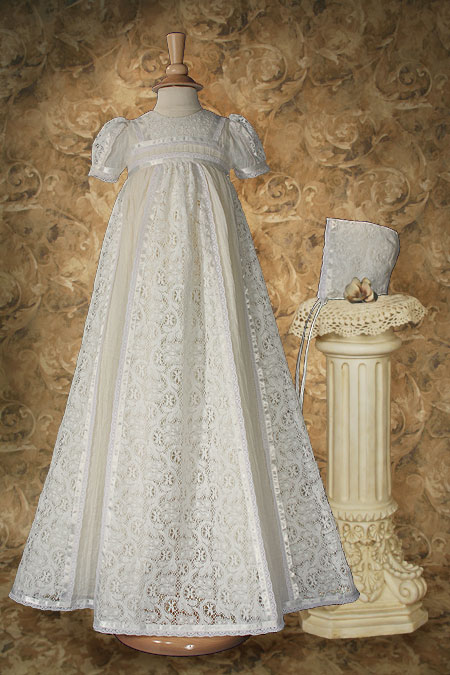 Ivory Victorian Lace Christening Gown