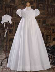 Hand Smocked Polycotton Batiste Gown