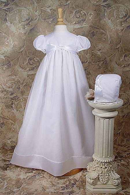 Organza Gown Accented W/Polyester Satin Ribbon