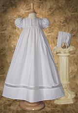 Christening Dress with Organza Ruching