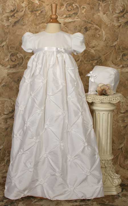 Polyester Taffeta Gown W/Rosettes