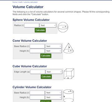 Volume Calculations