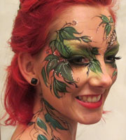 Facepainting for adult birthday parties