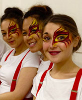 Bar staff Facepainting for London clubs