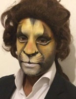 Professional facepainting entertainment for adults