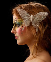 Adult facepainting for wedding party