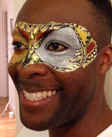 Facepainting for a masked ball