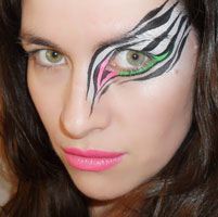 Painted eye designs for party