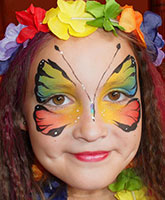 Face painting for Christenings and wedding receptions