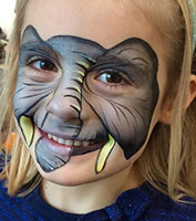 Professional face painting for children in London